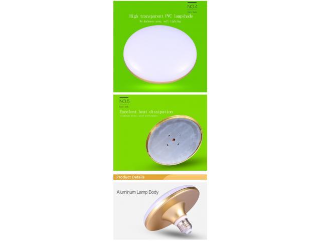 Lâmpada Led 60 W Reais equivale a 400 w E27-220v Dourada Metalica 10000 horas - 3/3