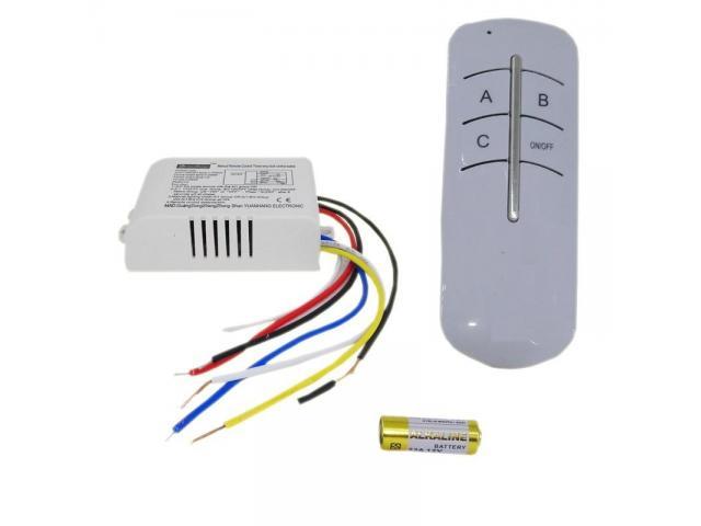 Controle Remoto p Lâmpada Casa Inteligente -Interruptor p Lâmpada S Fio Sensor - 1/3