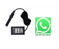 Termômetro Higrômetro Digital com Sonda - Ambientes, Chocadeira, Terrário etc
