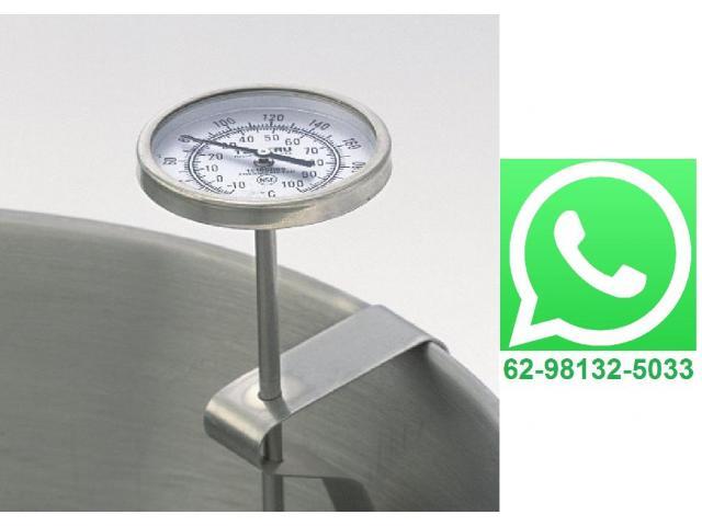 Termômetro Culinário Chef Analógico Clip com Haste de 20cm - 1/4