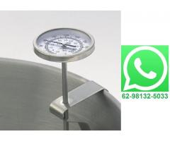 Termômetro Culinário Chef Analógico Clip com Haste de 20cm