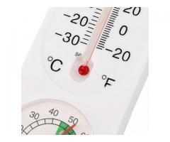 Termometro de parede, termo higrômetro, temperatura e umidade simultaneamente - Imagem 4/4