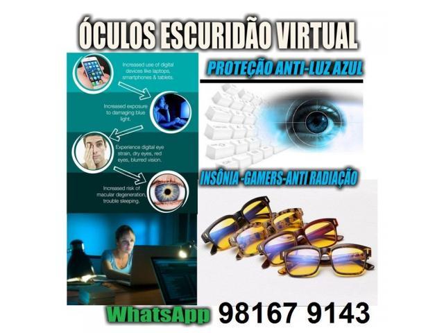 Óculos Contra Insônia - Escuridão virtual - Blue Ray Blocker - Escuridão Virtual - 1/3