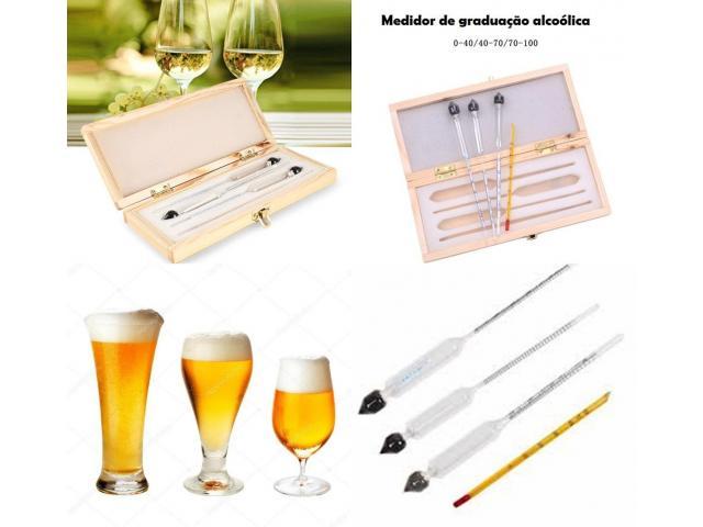 Densímetro Medidor Teor Álcool Alcoólico Alcoômetro Termômetro - Fazendo Cerveja em Casa - 3/4