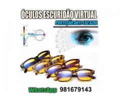 Óculos  Anti Luz Azul Escuridão virtual - Blue Ray Blocker - Escuridão Virtual Contra Insônia -