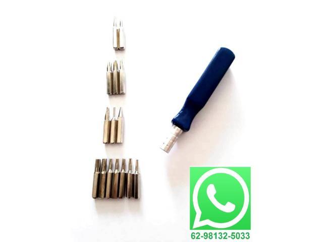 Chave de Precisão com 15 Ponteiras - Celular, Relógio, etc - 1/3