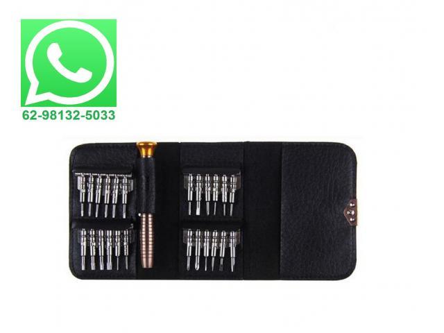 Jogo com 24 Ponteiras Chave de Precisão Iphone, MacBook, Celular, Samsung - 1/5