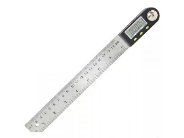 Copiador Transferidor Goniômetro Digital Régua de  Inox Medidor De Ângulo 200mm - 2/6