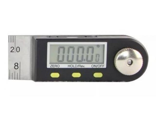 Copiador Transferidor Goniômetro Digital Régua de  Inox Medidor De Ângulo 200mm - 3/6