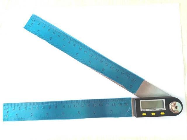Copiador Transferidor Goniômetro Digital Régua de  Inox Medidor De Ângulo 200mm - 5/6