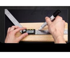 Copiador Transferidor Goniômetro Digital Régua de  Inox Medidor De Ângulo 200mm - Imagem 6/6