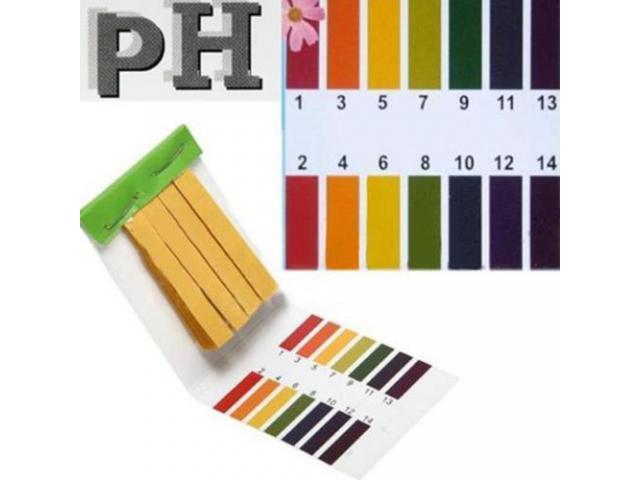 Fita de Medir PH - Medidor de PH com 80 tiras - 1/2