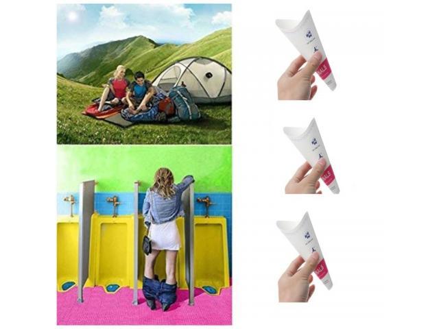 Urinol Feminino mictório ao ar livre xixi em pé viagem de acampamento portátil kit c/3pçs - 5/6