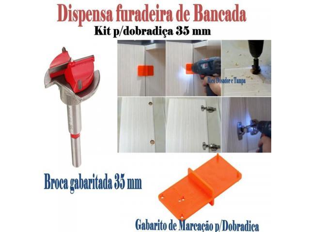 Gabarito para dobradiça - broca gabaritada 35 mm para portas de armários - 3/3