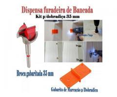 Gabarito para dobradiça - broca gabaritada 35 mm para portas de armários - Imagem 3/3