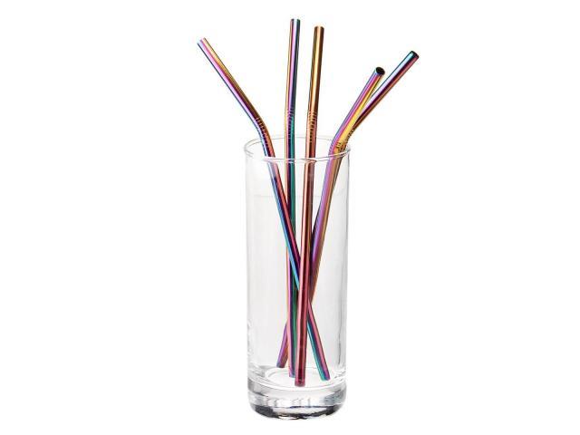 Canudo Reutilizável Inox + 1 Escova - Kit Com 3 Canudos - 1/3