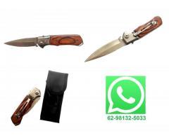 Canivete Automático Cabo de Madeira - Imagem 1/4