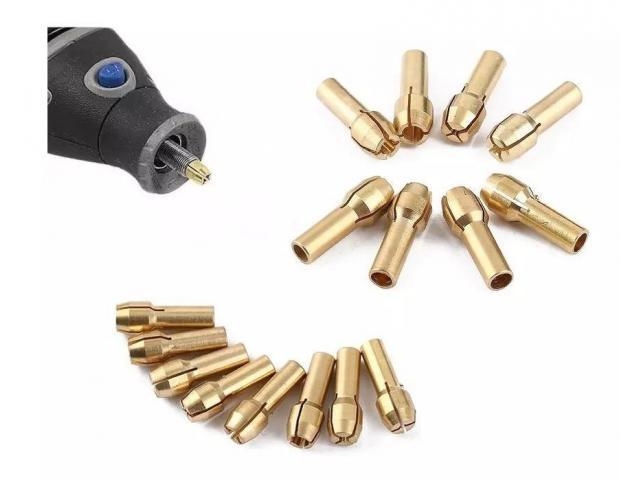 Pinça para Micro Retífica Microretífica - Kit com 10 Pinças - 2/5