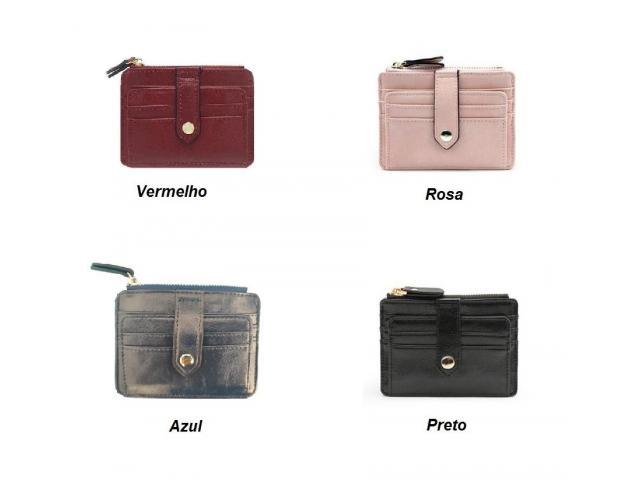 Carteira Case Porta Cartão Crédito Fina Slim Com Porta Moedas - 4/5