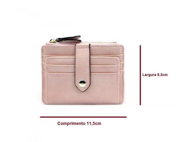 Carteira Case Porta Cartão Crédito Fina Slim Com Porta Moedas - 5/5