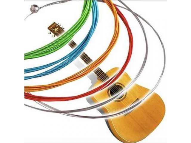 Jogo de Corda Coloridas de Nylon para Violão - Cordas Coloridas - 2/3