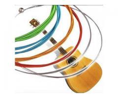 Jogo de Corda Coloridas de Nylon para Violão - Cordas Coloridas