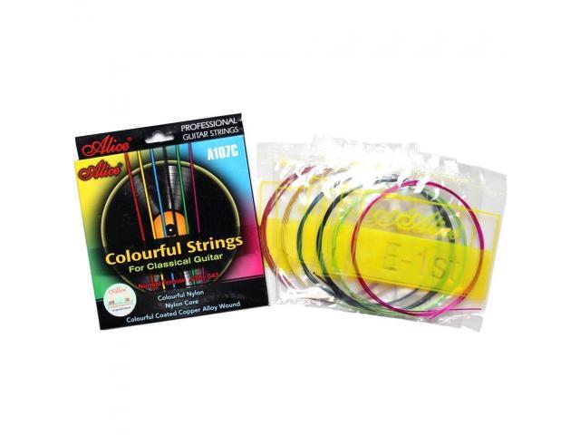 Jogo de Corda Coloridas de Nylon para Violão - Cordas Coloridas - 3/3