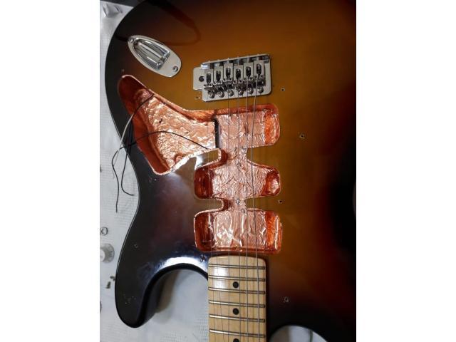 Fita de Cobre Adesiva para Blindagem Anti Ruído Instrumentos Baixo Elétrico, Guitarra - 3/3