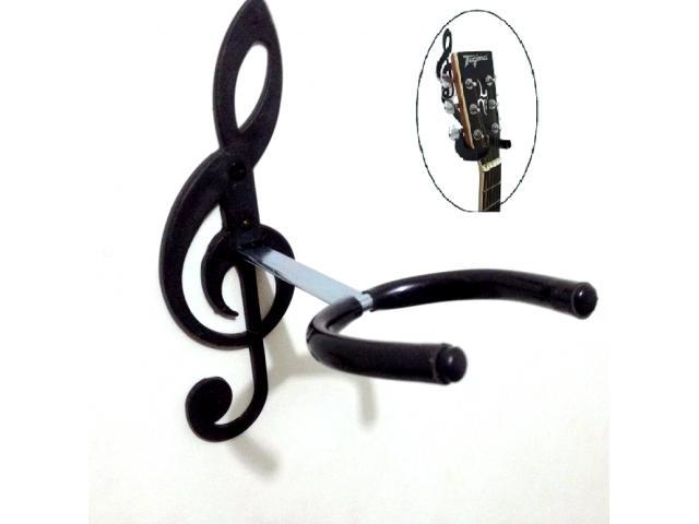 Suporte de Parede para Violão, Guitarra, Contrabaixo - Modelo Clave de Sol - 1/2