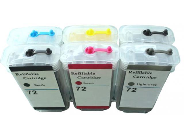 Cartuchos 72 recarregável chip full compatível c/  T610 T620 T1100 T1200 T710 T770 T790 T795 T1 - 2/6