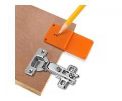 Gabarito  p/dobradiça 35 mm 40 mm  localiza e posiciona porta de armário jig pratico