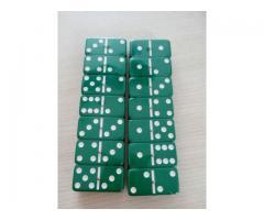 Dominó Pedras Coloridas 28 Peças - Cor Verde