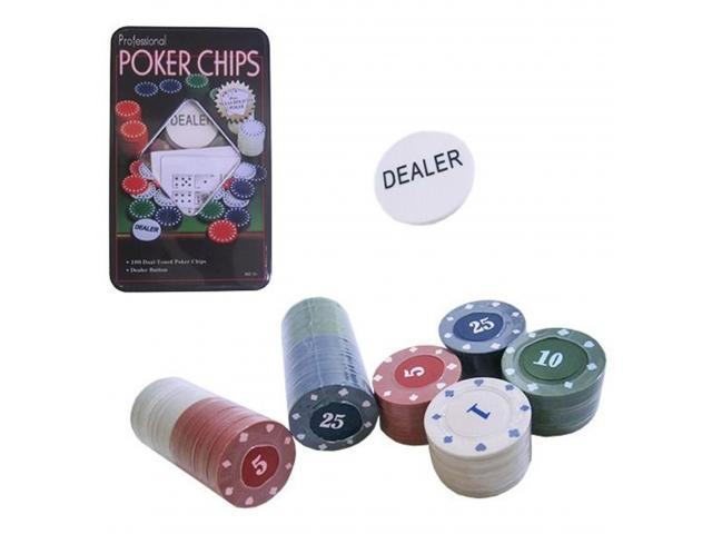 Fichas de Poker - Jogo de Poker 100 Fichas - 1/3