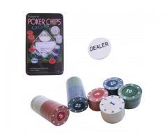 Fichas de Poker - Jogo de Poker 100 Fichas - Imagem 1/3