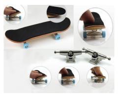 Fingerboard Skate de Dedo de Madeira com Rolamento