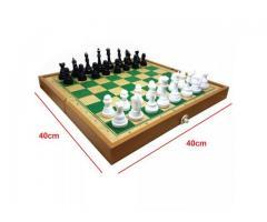 Jogo de Xadrez Dobrável - Tabuleiro Grande 40cm x 40cm