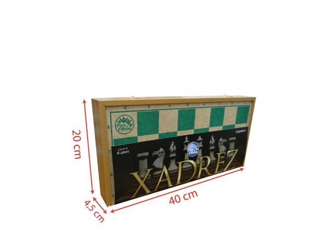 Jogo de Xadrez Dobrável - Tabuleiro Grande 40cm x 40cm - 2/3