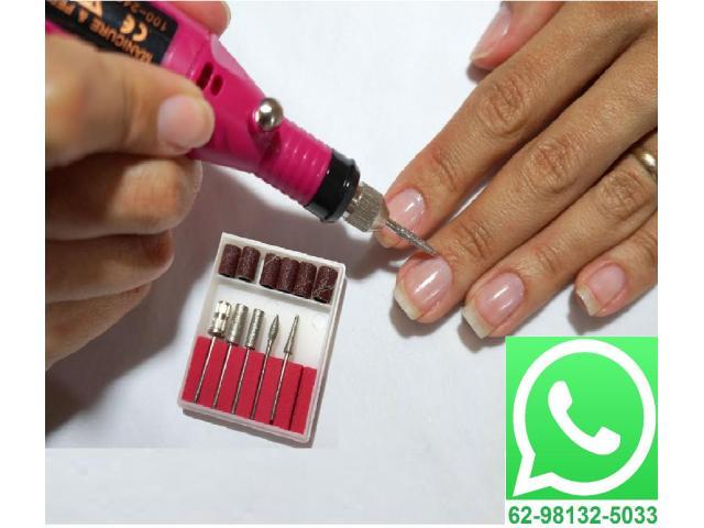 Lixa para Unha Acrigel Gel Porcelana Manicure - 1/4
