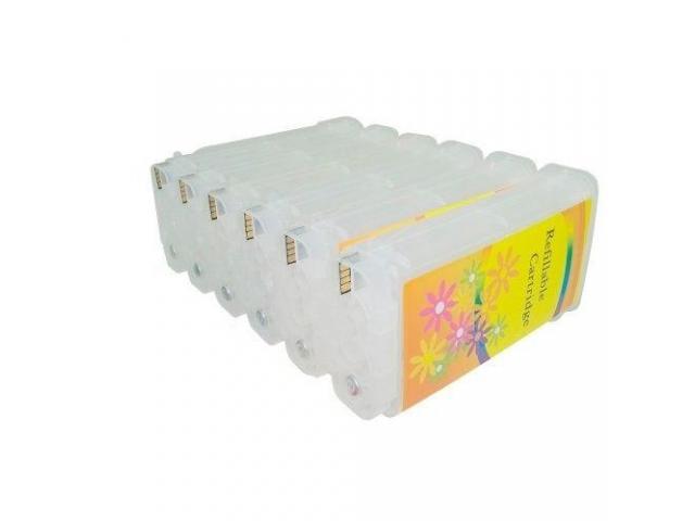 Cartuchos 70 recarregável chip full compatível  com hp 70   Plotter Z5400 6 Cores - 1/3