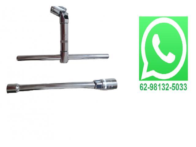Soquete Para Vela 16 e 21 Mm 5 Pçs 1/2 Prolongador + Chave T Junta Universal - 1/2