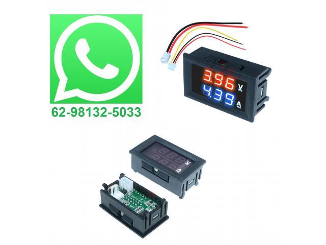 Voltímetro Amperímetro Monitor de Bateria Som Automotivo - 1/3
