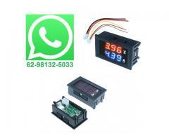 Voltímetro Amperímetro Monitor de Bateria Som Automotivo