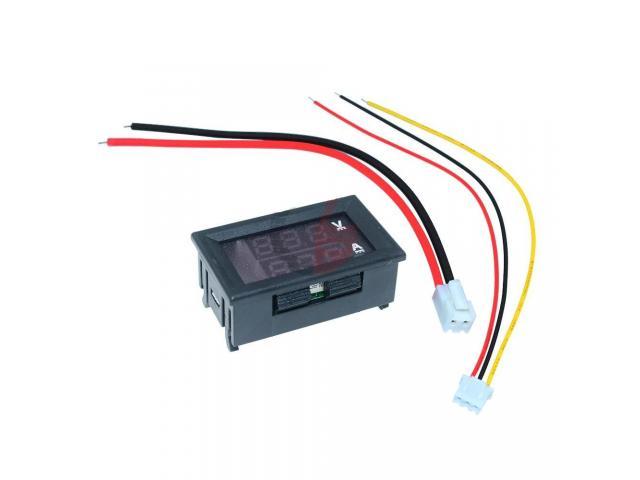 Voltímetro Amperímetro Monitor de Bateria Som Automotivo - 2/3