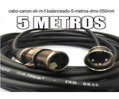Cabo Canon Xlr M / F Balanceado -- 5 Metros - Dmx - 0,50mm