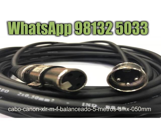 Cabo Canon Xlr M / F Balanceado -- 5 Metros - Dmx - 0,50mm - 3/4