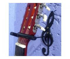Suporte de Parede para Violão, Guitarra, Contrabaixo - Modelo Clave de Sol - Imagem 3/4