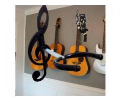 Suporte de Parede para Violão, Guitarra, Contrabaixo - Modelo Clave de Sol - Imagem 4/4