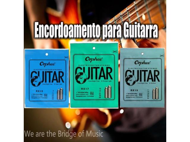 Cordas  para Guitarra  09-010-011 Serie Rx timbre e duração Custo beneficio - 1/2