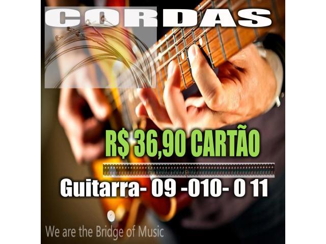Cordas  para Guitarra  09-010-011 Serie Rx timbre e duração Custo beneficio - 2/2