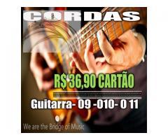 Cordas  para Guitarra  09-010-011 Serie Rx timbre e duração Custo beneficio